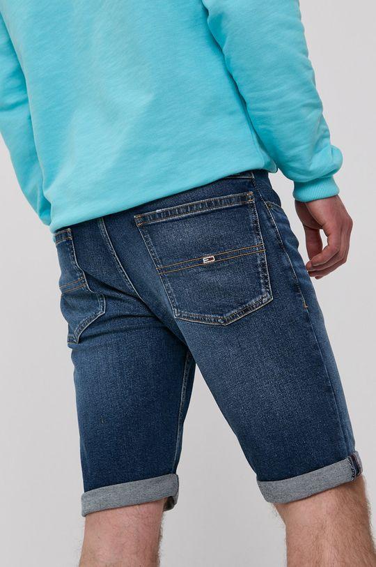 Tommy Jeans - Rifľové krátke nohavice  99% Bavlna, 1% Elastan