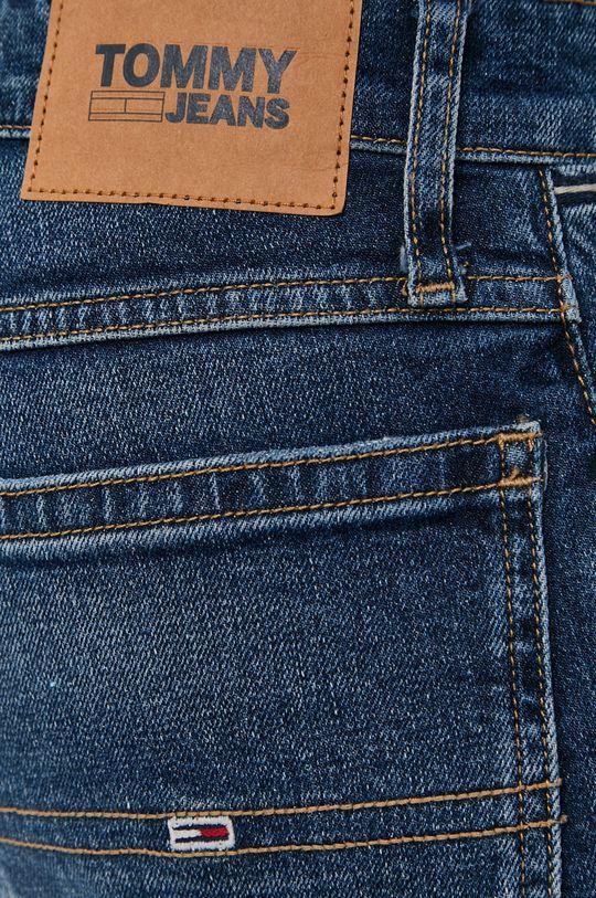 tmavomodrá Tommy Jeans - Rifľové krátke nohavice