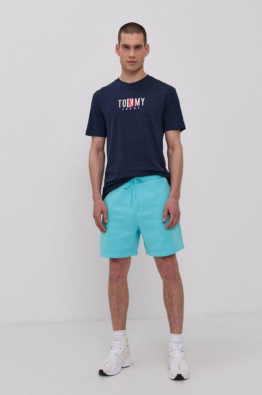 Tommy Jeans - Šortky svetlá tyrkysová