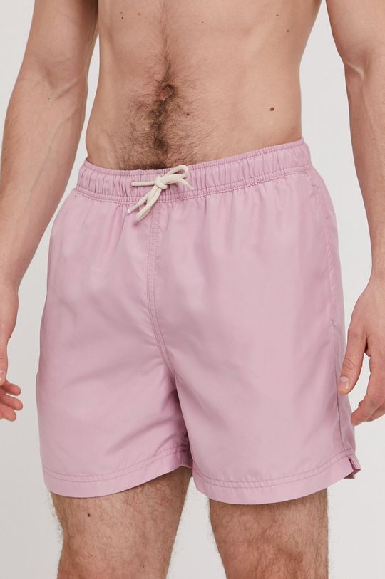 ostry różowy Selected - Szorty kąpielowe Męski