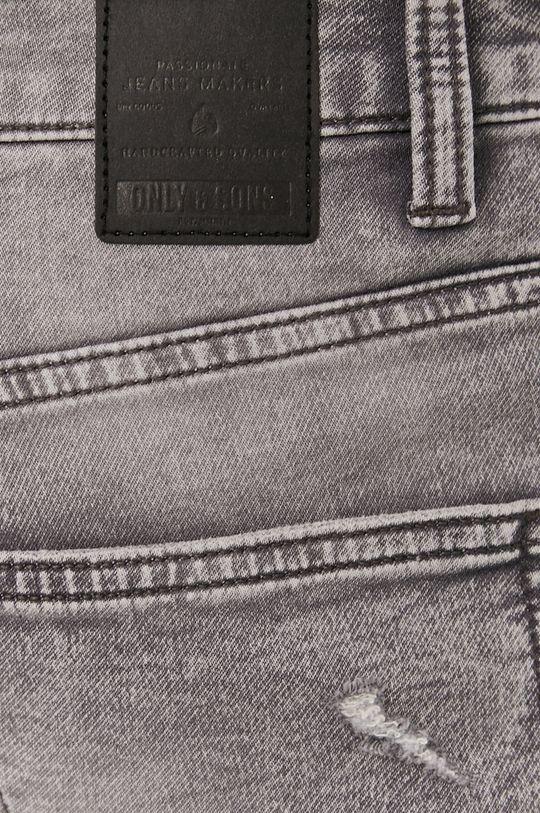 szary Only & Sons - Szorty jeansowe