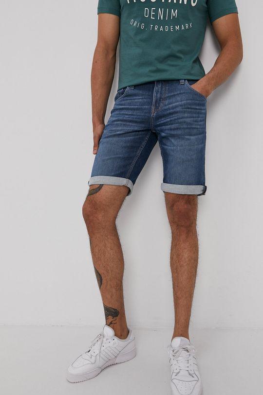 niebieski Mustang - Szorty jeansowe Męski