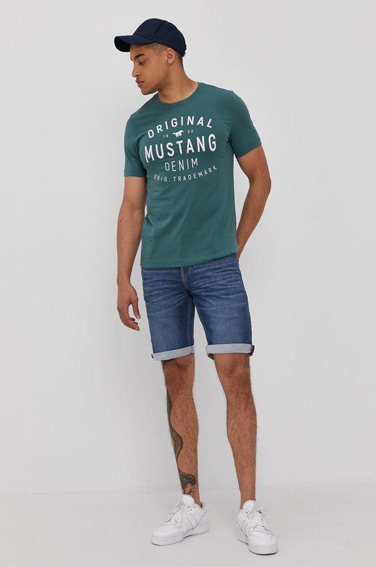 Mustang - Szorty jeansowe niebieski