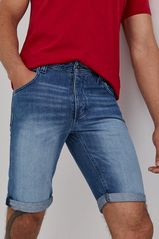modrá Mustang - Rifľové krátke nohavice Pánsky
