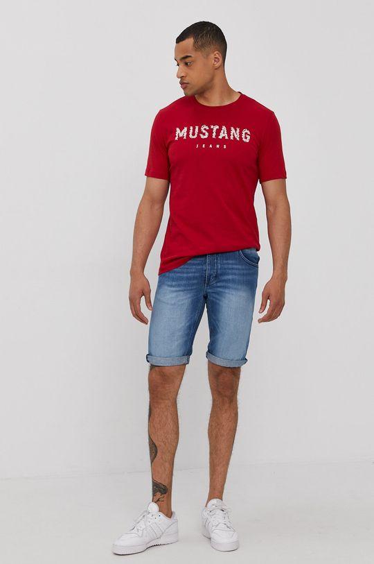 Mustang - Rifľové krátke nohavice modrá