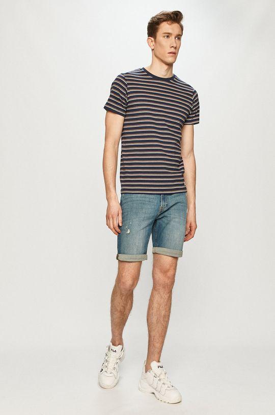 Produkt by Jack & Jones - Rifľové krátke nohavice modrá