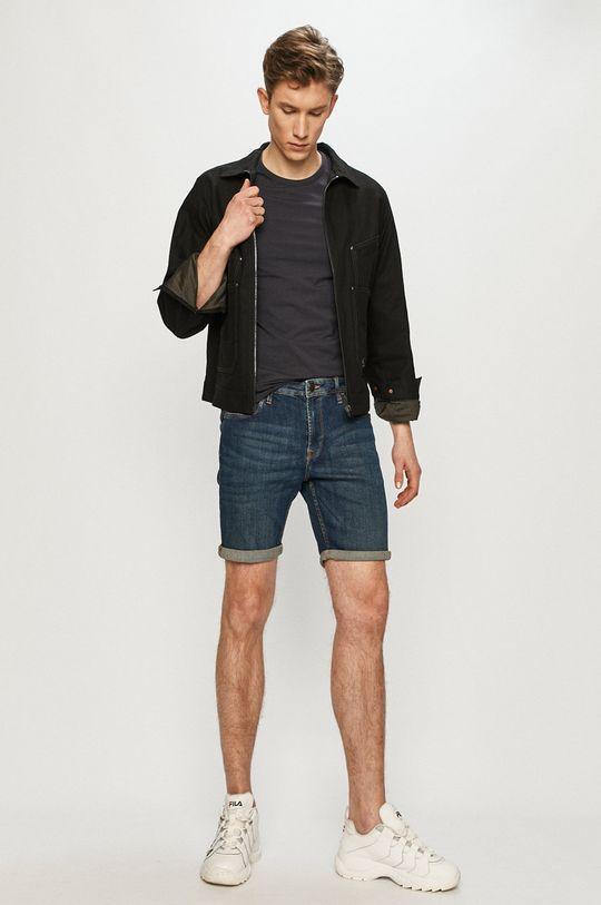 Produkt by Jack & Jones - Rifľové krátke nohavice tmavomodrá