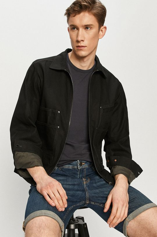 tmavomodrá Produkt by Jack & Jones - Rifľové krátke nohavice