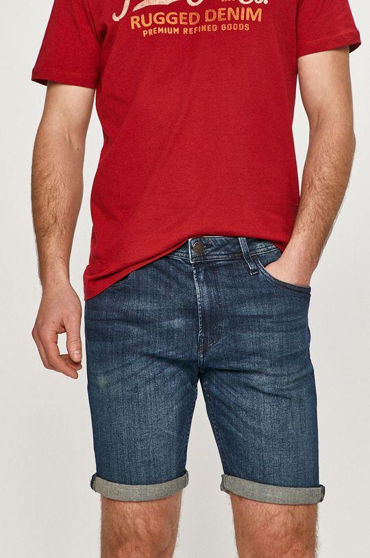 modrá Produkt by Jack & Jones - Rifľové krátke nohavice Pánsky