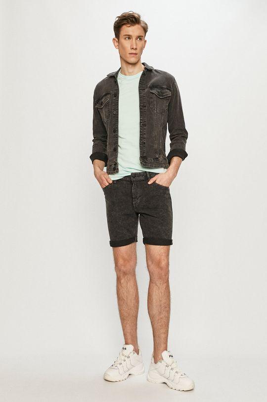 Produkt by Jack & Jones - Rifľové krátke nohavice sivá