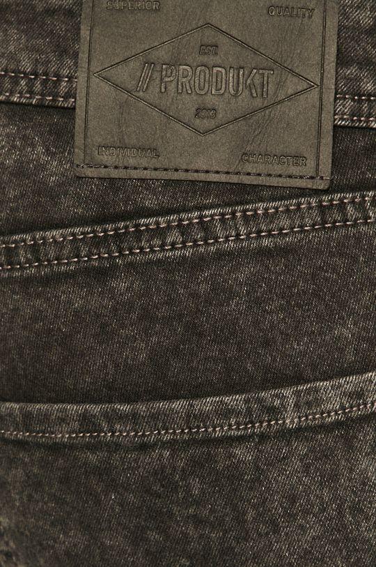 sivá Produkt by Jack & Jones - Rifľové krátke nohavice