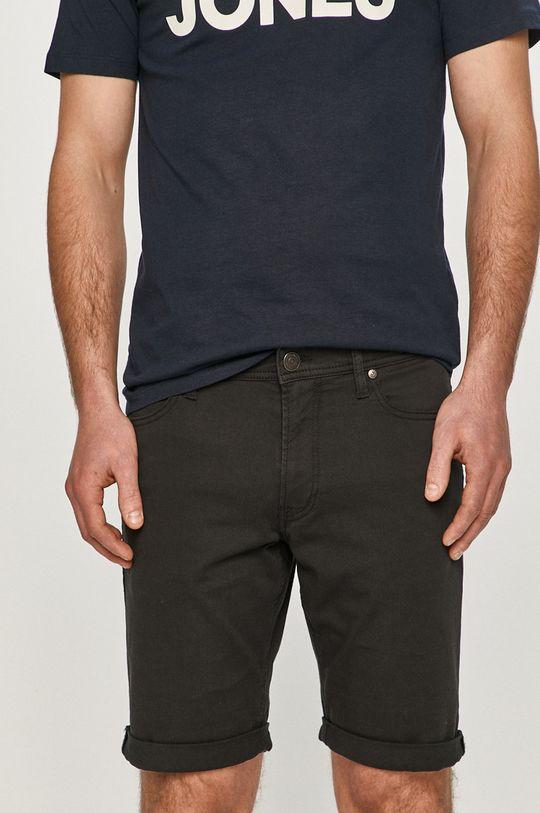 čierna Produkt by Jack & Jones - Rifľové krátke nohavice Pánsky