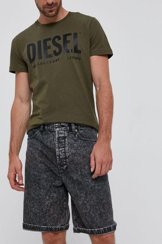 šedá Diesel - Džínové šortky Pánský