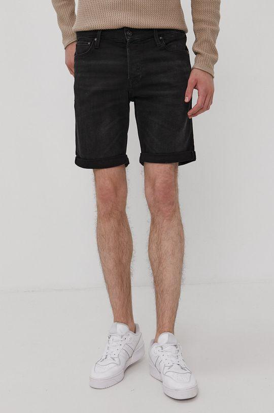 černá Jack & Jones - Džínové šortky Pánský
