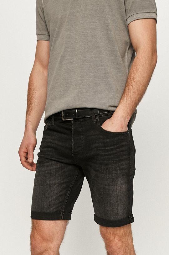 czarny Jack & Jones - Szorty jeansowe Męski