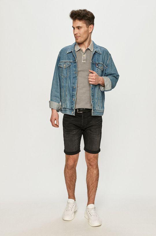 Jack & Jones - Szorty jeansowe czarny