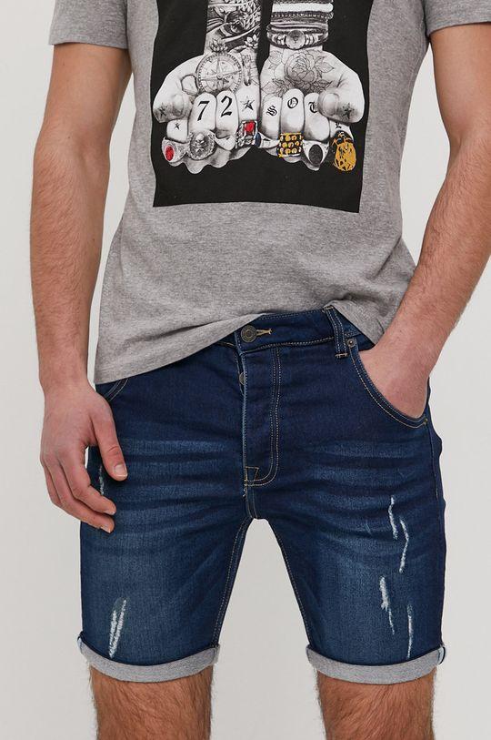 niebieski Brave Soul - Szorty jeansowe Męski