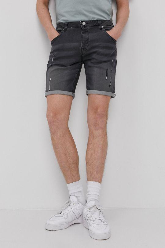 szary Brave Soul - Szorty jeansowe Męski