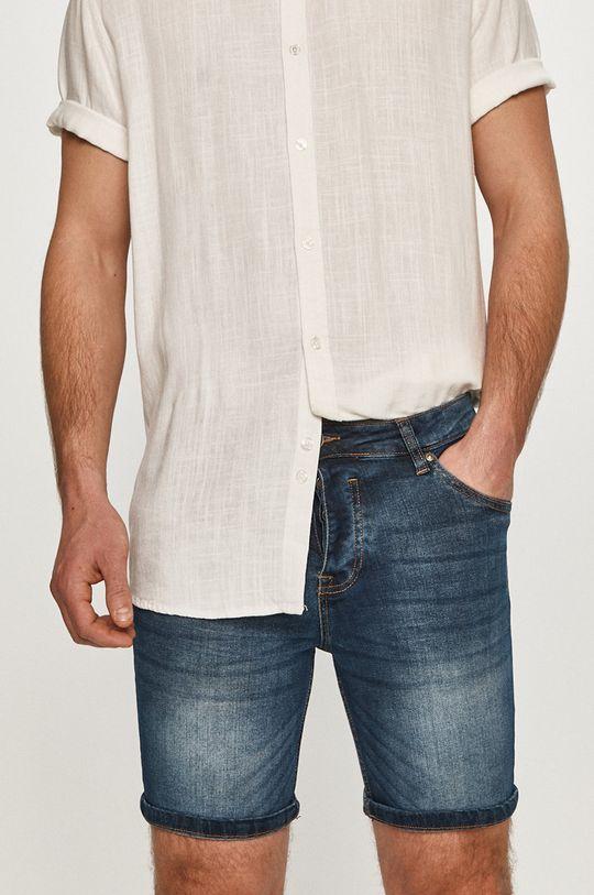 granatowy Brave Soul - Szorty jeansowe Męski