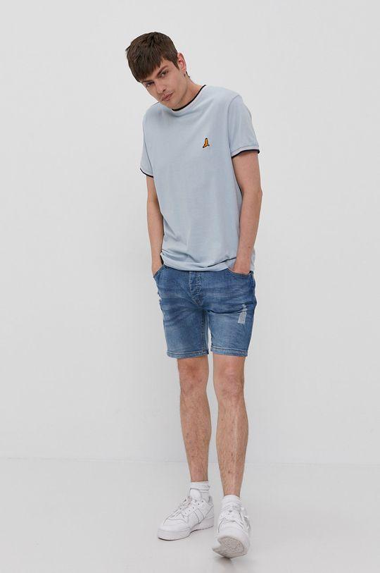 Brave Soul - Szorty jeansowe jasny niebieski