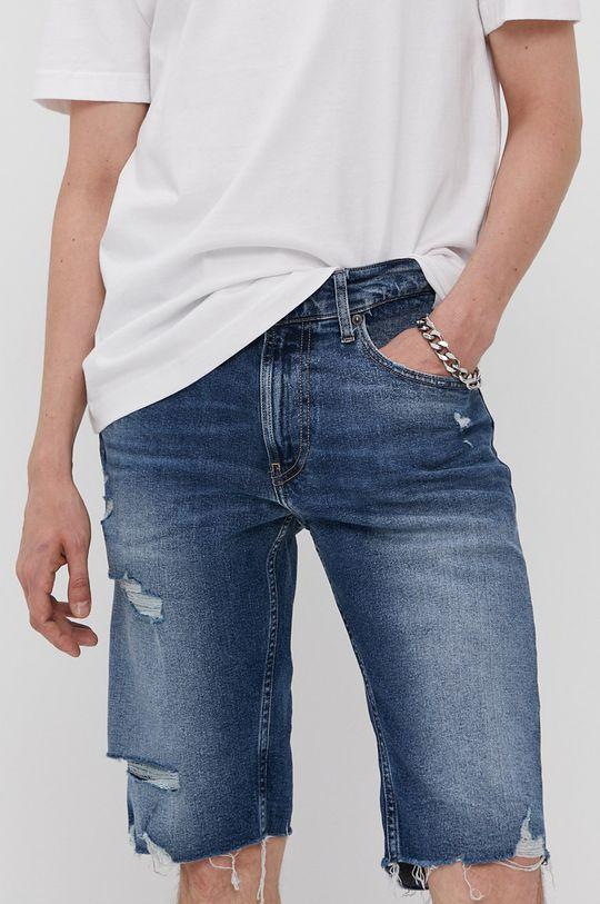 modrá Tommy Jeans - Krátke rifľové nohavice Pánsky