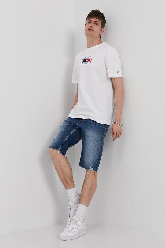 Tommy Jeans - Krátke rifľové nohavice modrá