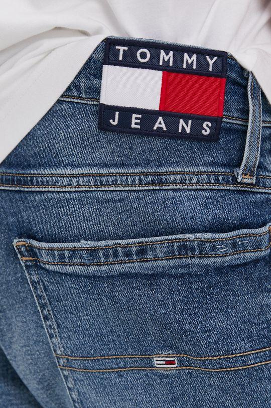 modrá Tommy Jeans - Krátke rifľové nohavice