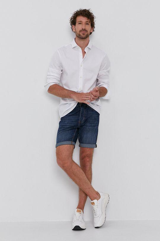 Strellson - Szorty jeansowe niebieski