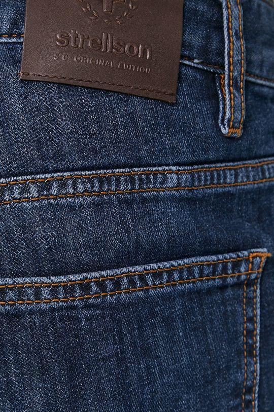 niebieski Strellson - Szorty jeansowe
