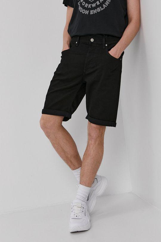 czarny Lee - Szorty jeansowe Męski