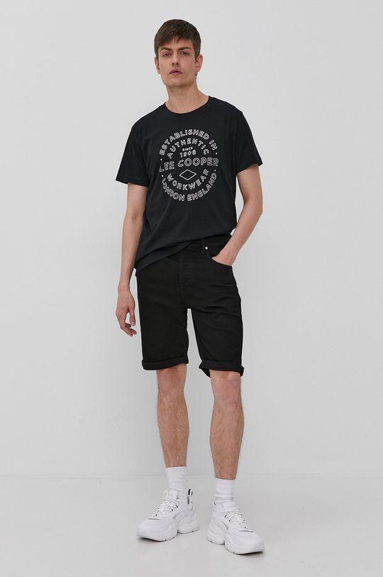 Lee - Szorty jeansowe czarny