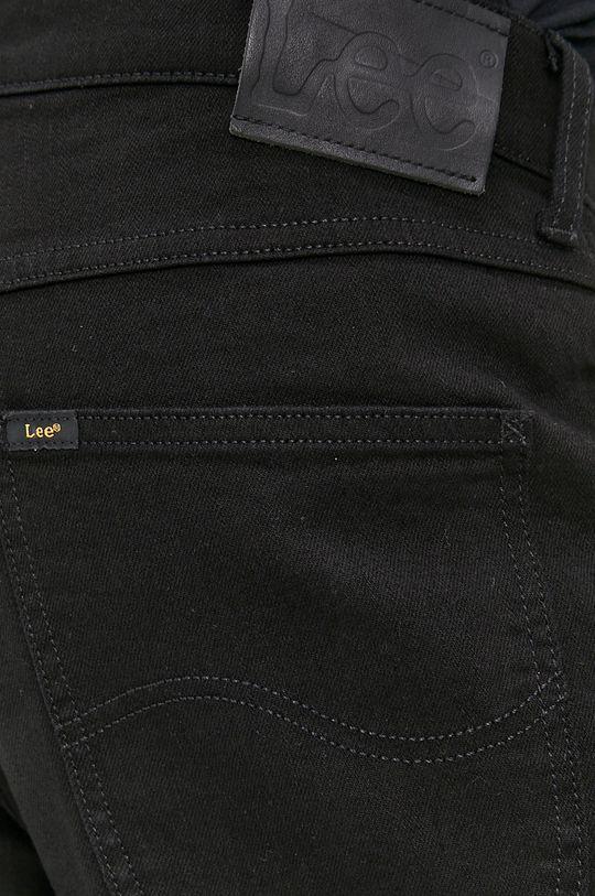 czarny Lee - Szorty jeansowe