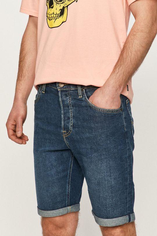 tmavomodrá Lee - Rifľové krátke nohavice Pánsky