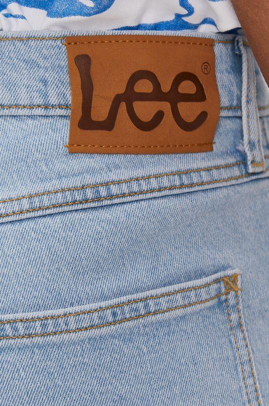 svetlomodrá Lee - Rifľové krátke nohavice