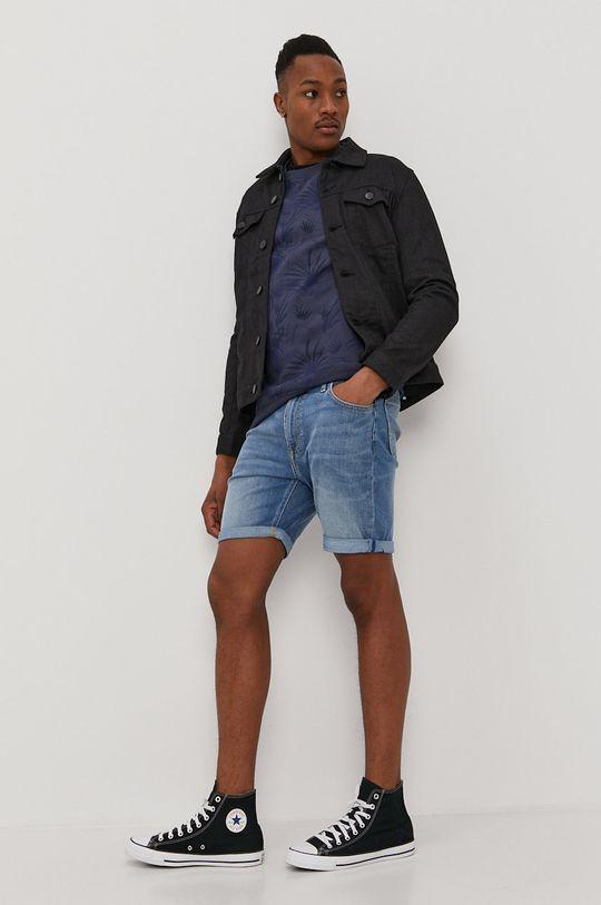 Lee - Rifľové krátke nohavice svetlomodrá