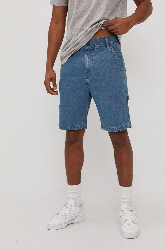 modrá Lee - Rifľové krátke nohavice Pánsky
