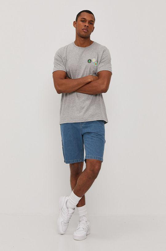 Lee - Rifľové krátke nohavice modrá