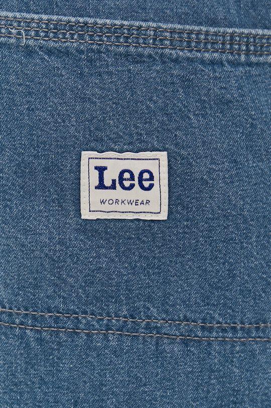 modrá Lee - Rifľové krátke nohavice