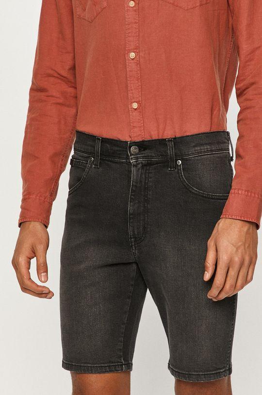 černá Wrangler - Džínové šortky Pánský
