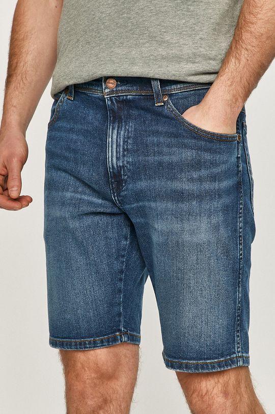 granatowy Wrangler - Szorty jeansowe Męski