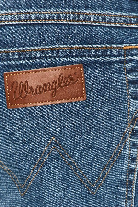 granatowy Wrangler - Szorty jeansowe