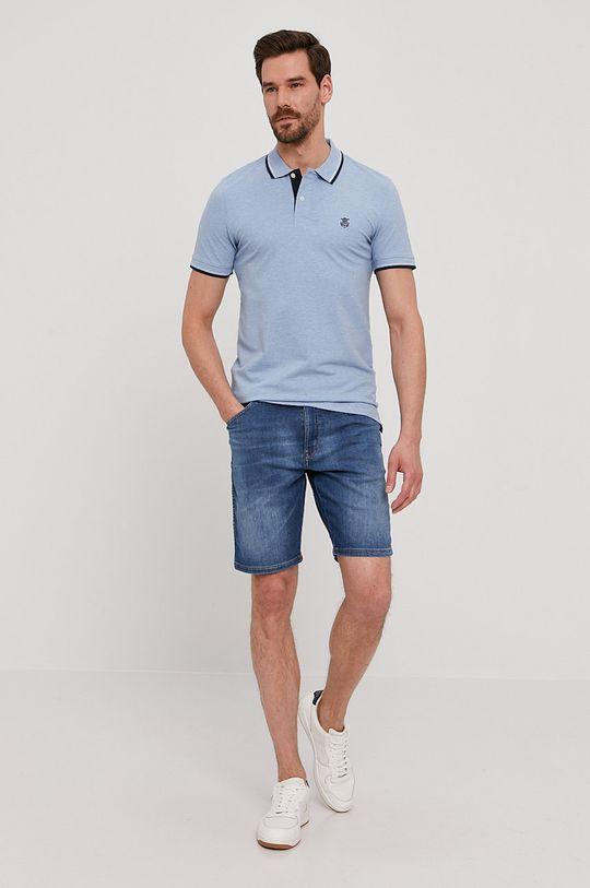 Wrangler - Rifľové krátke nohavice modrá