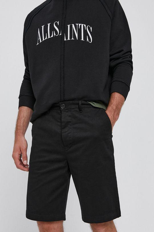 czarny AllSaints - Szorty MT011V Męski