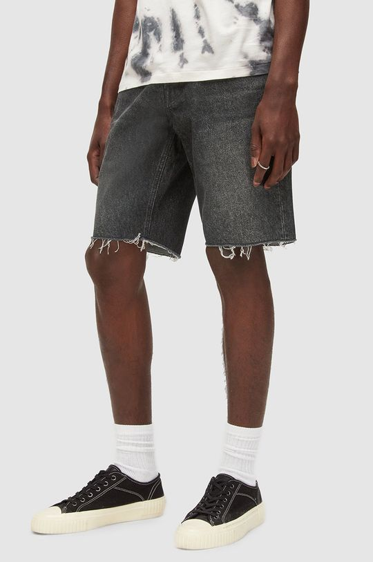 černá AllSaints - Džínové šortky Pánský