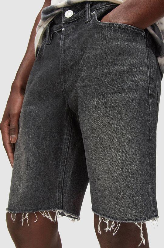 AllSaints - Džínové šortky černá