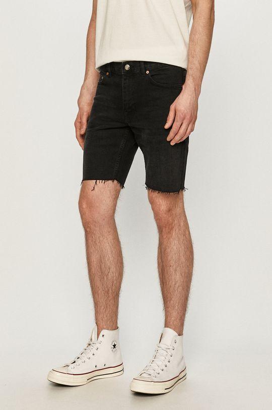 čierna Dr. Denim - Rifľové krátke nohavice Pánsky