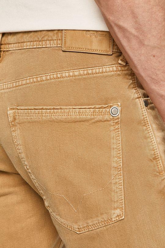 piaskowy Pepe Jeans - Szorty Stanley