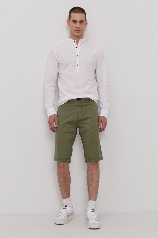 Tom Tailor - Szorty brudny zielony