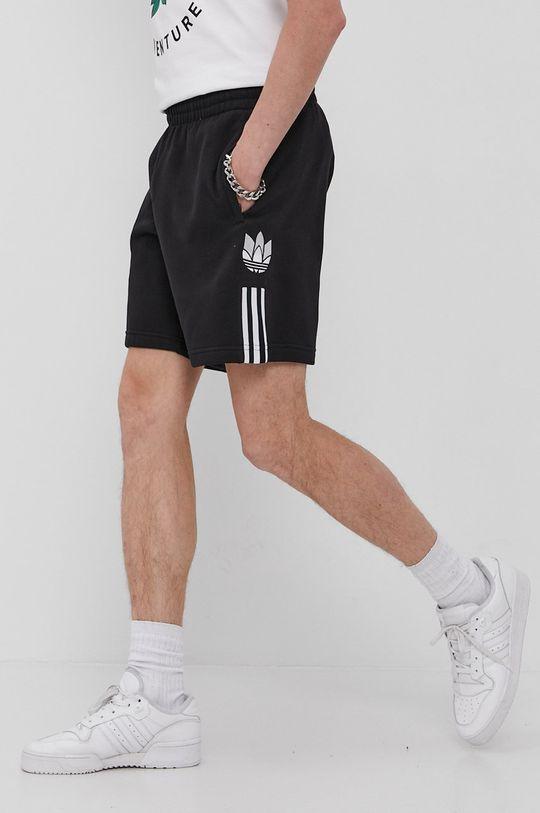 čierna adidas Originals - Šortky Pánsky