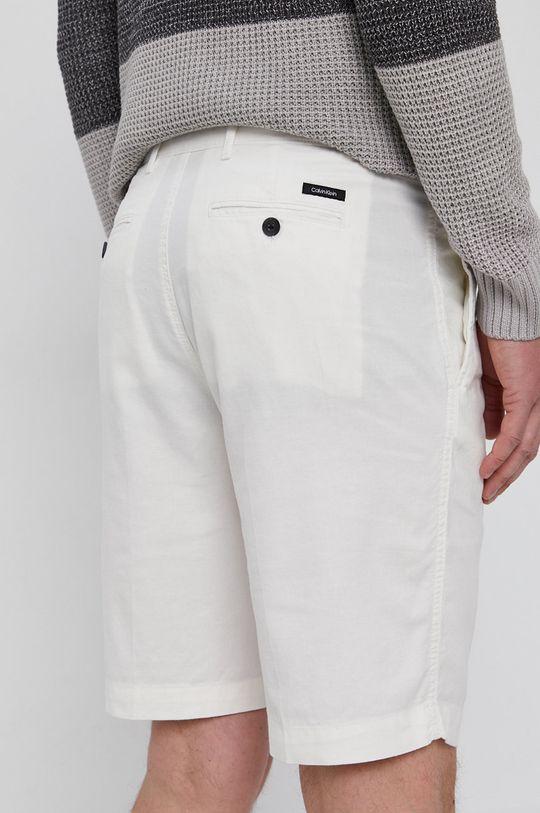 Calvin Klein - Šortky  72% Bavlna, 3% Elastan, 25% Ľan